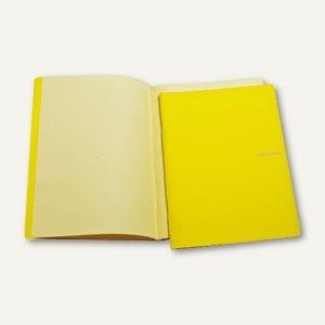Notizheft EcoQua Colore, DIN A5, blanko, kratzfest, 40 Blatt, gelb, 65600187
