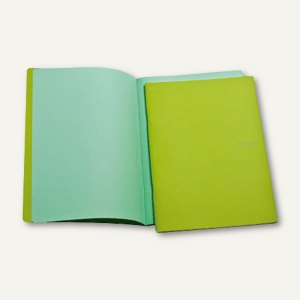 Notizheft EcoQua Colore, DIN A4, blanko, kratzfest, 40 Blatt, grün, 65600184