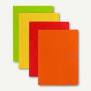 Notizheft EcoQua, 9 x 14 cm, blanko, kratzfest, 32 Blatt, sortiert, 4 Stück, 191