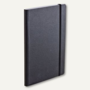 FABRIANO Notizbuch EcoQua A5, Elastikband, punktiert, 80 Blatt, schwarz,19821956