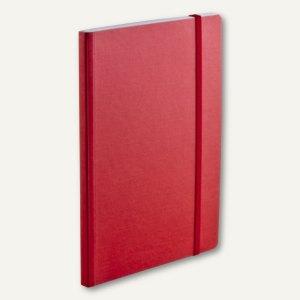 FABRIANO Notizbuch EcoQua A5, Elastikband, punktiert, 80 Blatt, rot, 19821951