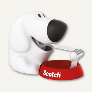 Scotch Handabroller Dog, Rollen bis (B)19 mm, Kerndurchm. 25 mm, weiß, DOG-810