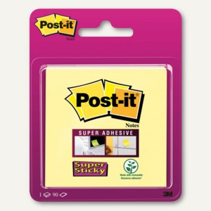 Post-it Super Sticky Notes, 76 x 76 mm, gelb, 90 Blatt, 6920CY