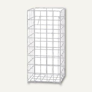 Handtuch-Sammelkorb B 330 x H 720 x T 250 mm, 60 l, Gitter Drahtgeflecht, weiß,