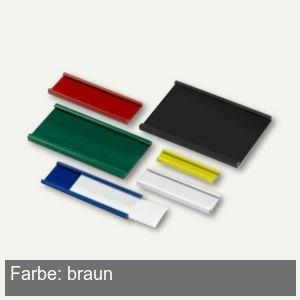 Ultradex Magnetische Schiene - (B)50 x (H)9.5 mm, braun, 16 Stück, 845500