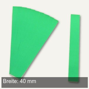 Einsteckkarten für 9.5 mm Magnetschienen, (B)40 x (H)7.5 mm, grün, 420 Stück, 84