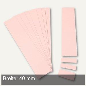 Einsteckkarten für 9.5 mm Magnetschienen, (B)40 x (H)7.5 mm, rosa, 420 Stück, 84