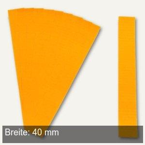 Einsteckkarten für 9.5 mm Magnetschienen, (B)40 x (H)7.5 mm, orange, 420 Stück,