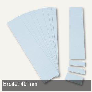 Einsteckkarten für 9.5 mm Magnetschienen, (B)40 x (H)7.5 mm, hellblau, 420 Stück