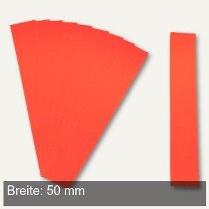 Einsteckkarten für 9.5 mm Magnetschienen, (B)50 x (H)7.5 mm, rot, 420 Stück, 846