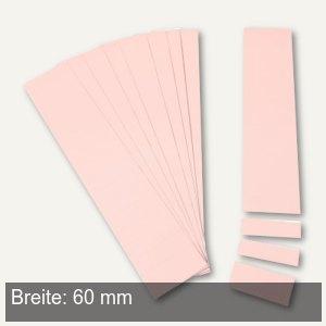 Einsteckkarten für 9.5 mm Magnetschienen, (B)60 x (H)7.5 mm, rosa, 420 Stück, 84