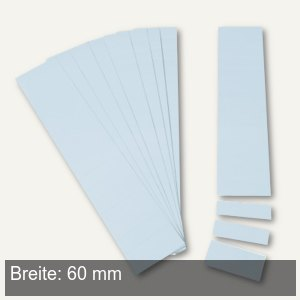 Einsteckkarten für 9.5 mm Magnetschienen, (B)60 x (H)7.5 mm, hellblau, 420 Stück