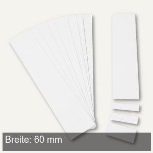 Einsteckkarten für 9.5 mm Magnetschienen, (B)60 x (H)7.5 mm, weiß, 420 Stück, 84