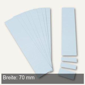 Einsteckkarten für 9.5 mm Magnetschienen, (B)70 x (H)7.5 mm, hellblau, 420 Stück