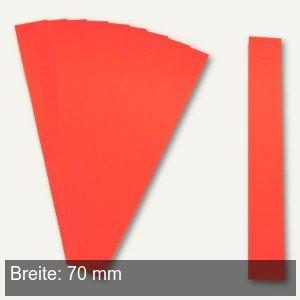 Einsteckkarten für 15.5 mm Magnetschienen, (B)70 x (H)12 mm, rot, 220 Stück, 849