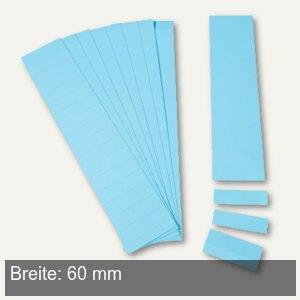 Einsteckkarten für 20 mm Magnetschienen, (B)60 x (H)17 mm, blau, 170 Stück, 8474