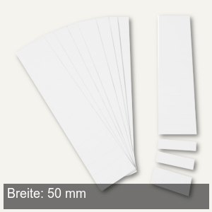 Einsteckkarten für 20 mm Magnetschienen, (B)50 x (H)17 mm, weiß, 170 Stück, 8473