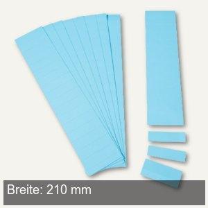 Einsteckkarten für 34 mm Magnetschienen, (B)210 x (H)32 mm, blau, 40 Stück, 8538