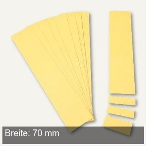 Einsteckkarten für 34 mm Magnetschienen, (B)70 x (H)32 mm, gelb, 90 Stück, 85370