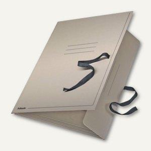 Zeichnungsmappe / Sammelmappe mit Bändern