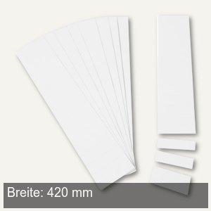 Einsteckkarten für 50 mm Magnetschienen, (B)420 x (H)46 mm, weiß, 6 Stück, 84490