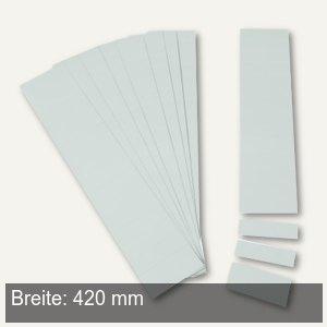 Einsteckkarten für 50 mm Magnetschienen, (B)420 x (H)46 mm, grau, 6 Stück, 84490