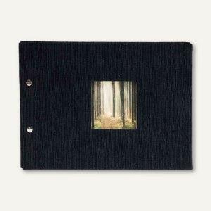 """Kondolenzbuch """"Lynel"""", 310 x 220 mm, 40 Seiten, Stoffeinband, schwarz, 30 357"""