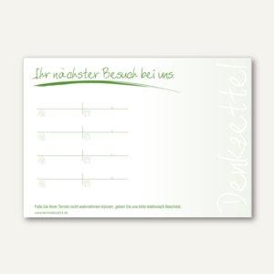 officio Terminzettel MODERN, 4 Termine, 100 x 70 mm, grün, 10 x 50 Blatt