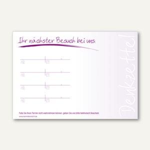 officio Terminzettel MODERN, 4 Termine, 100 x 70 mm, violett, 10 x 50 Blatt