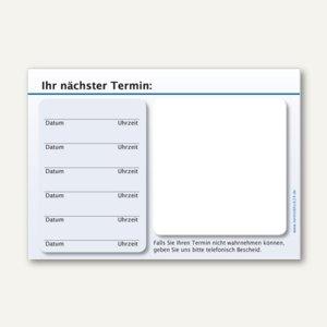 officio Terminzettel STANDARD, 6 Termine, 100 x 70 mm, blau, 10 x 50 Blatt