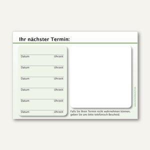 officio Terminzettel STANDARD, 6 Termine, 100 x 70 mm, grün, 10 x 50 Blatt