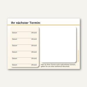 officio Terminzettel STANDARD, 6 Termine, 100 x 70 mm, orange, 10 x 50 Blatt
