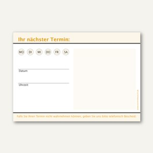 officio Terminzettel KLASSIK, 1 Termin, 100 x 70 mm, orange, 10 x 50 Blatt