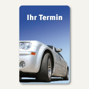 officio Terminkarte AUTO, 6 Termine, 55 x 85 mm, zum Stempeln, 100 Stück