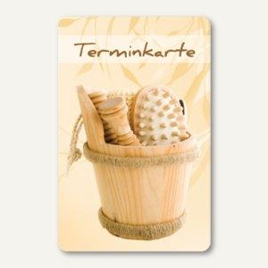 officio Terminkarte SAUNA, 6 Termine, 55 x 85 mm, zum Stempeln, 100 Stück