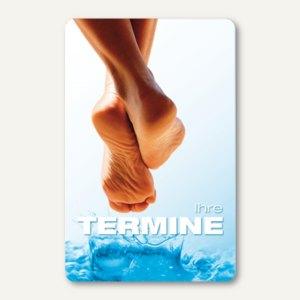 officio Terminkarte FUSSPFLEGE, 6 Termine, 55 x 85 mm, zum Stempeln, 100 Stück