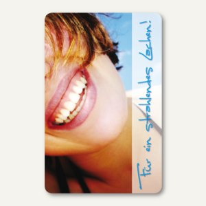 officio Terminkarte LACHEN, 6 Termine, 55 x 85 mm, zum Stempeln, 100 Stück
