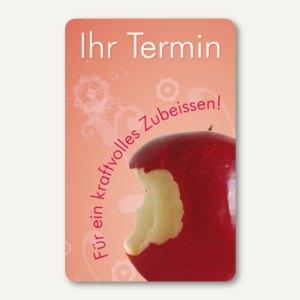officio Terminkarte APFELBISS, 6 Termine, 55 x 85 mm, zum Stempeln, 100 Stück