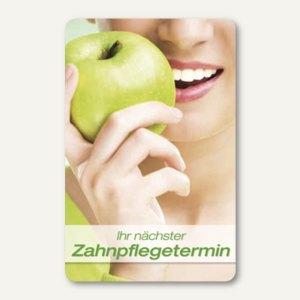 officio Terminkarte ZAHNPFLEGE, 6 Termine, 55 x 85 mm, zum Stempeln, 100 Stück