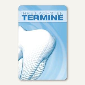 Terminkarte WEISHEITSZAHN, 6 Termine, 55 x 85 mm, zum Stempeln, 100 Stück