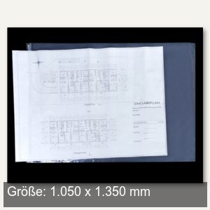 Planschutzhülle - 1.050 x 1.350 mm, wetterfest, transparent, 10 St., 1350-10