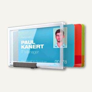 Ausweishalter PUSHBOX TRIO, für 3 Ausweise, 87 x 54 mm, offen, 10 Stück, 8920-19