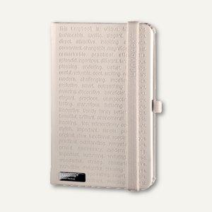 Notizbuch Lanybook - DIN A6, 9 x 14 cm, kariert, 192 Seiten, weiß, 9973868