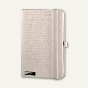 Notizbuch Lanybook - Large, 17.5 x 24.7 cm, kariert, 192 Seiten, weiß, 9973929