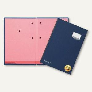 Pagna Unterschriftsmappe DE LUXE, 20 Fächer, Leineneinband, blau, 24201-02