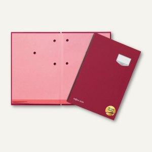 Pagna Unterschriftsmappe DE LUXE, 20 Fächer, Leineneinband, rot, 24201-01