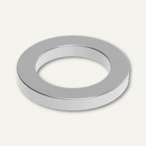 MAUL Neodym-Ringmagnet, Ø 12 mm, Haftkraft: 0.5 kg, nickel, 4 Stück, 6168396