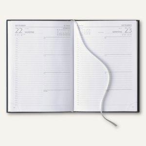 Buchkalender A5, 1 Tag/1 Seite, Übersichtsseite/Monatskalendarium, 416 Seiten