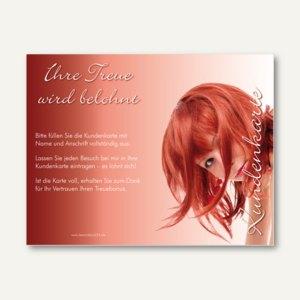 officio Kundenkarte HAIRSTYLE, 110 x 85 mm, Klappkarte, zum Stempeln, 50 Stück