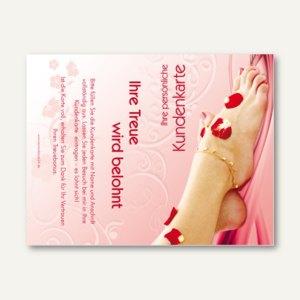 officio Kundenkarte PEDIKÜRE, 110 x 85 mm, Klappkarte, zum Stempeln, 50 Stück